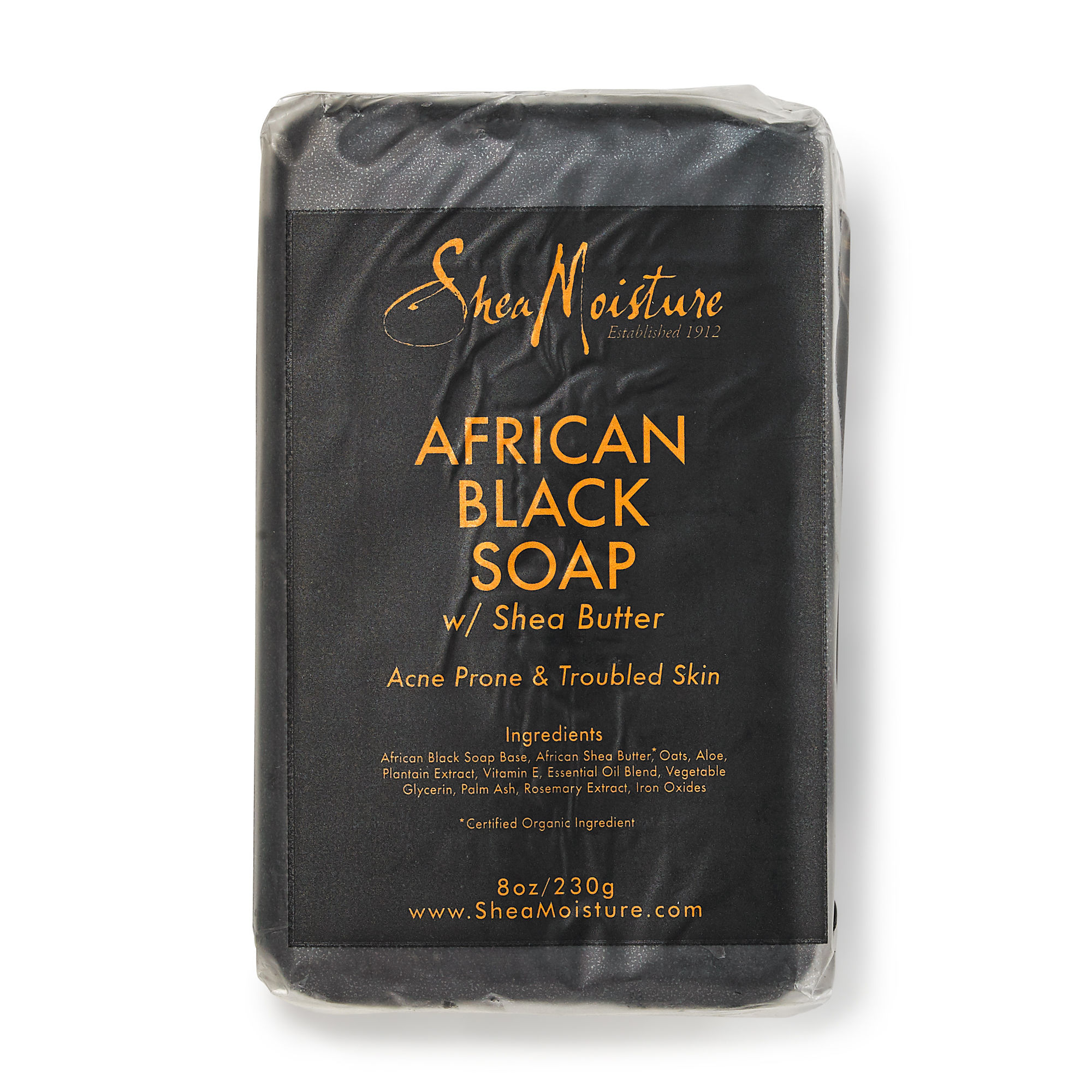 GNC SHEA MOISTURE AFRICAN BLACK SOAP ACNE PRONE FACE & BODY BAR 乳木果非洲黑皂 (8oz)