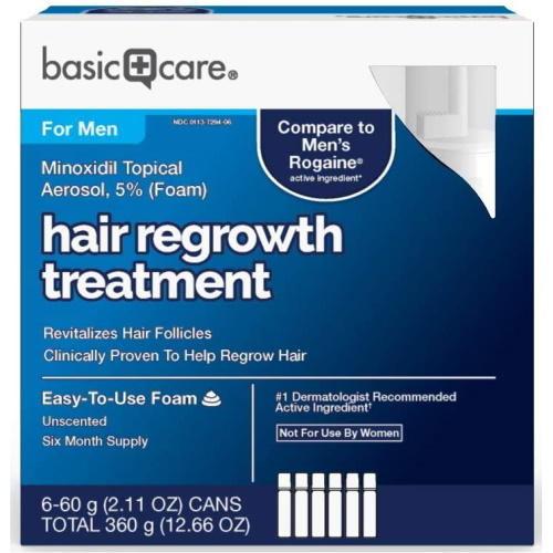 Basic Care 5% Minoxidil Form 男性生髮幕絲 (6個月份2oz*6)