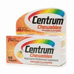 Centrum Multivitamin, Chewable 可嚼式善存維它命 (60粒) <新包裝>