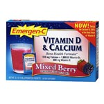 Emergen-C Vitamin D & Calcium, Mixed Berry (30pkt)