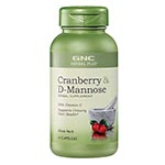 GNC Herbal Plus Cranberry & D-Mannose 酸果蔓 (60粒)