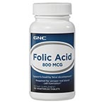 GNC Folic Acid 800 葉酸 (100粒)