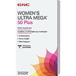 GNC Women's Ultra Mega 50 Plus, Timed Release 銀髮50+女性綜合維它命 (120粒)