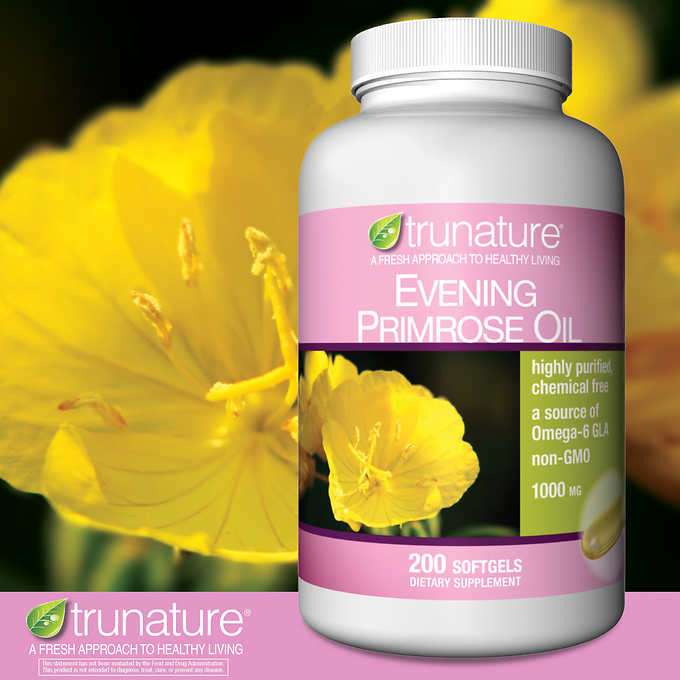 trunature Evening Primrose Oil 1000 mg., 200 Softgels 月見草油軟膠囊 (200粒)