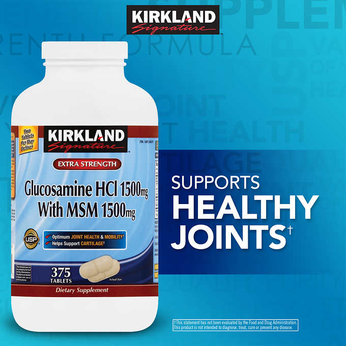 Kirkland Signature Glucosamine with MSM, 375 Tablets 特效強骨片(375粒)