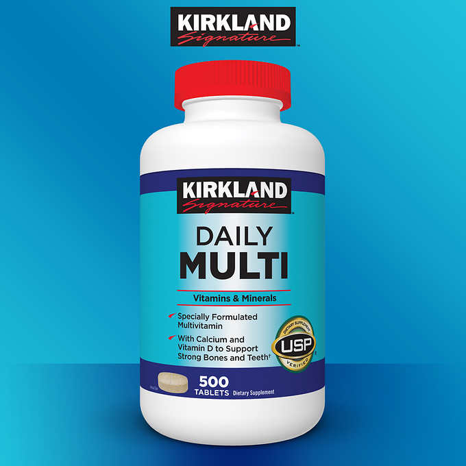 Kirkland Signature Daily Multi, 500 Tablets 成人綜合維生素礦物質 (500粒)