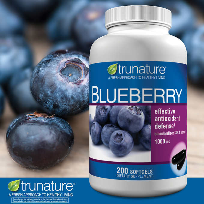 trunature Blueberry Extract 1000 mg, 200 Softgels 天然藍莓精華 (200粒)