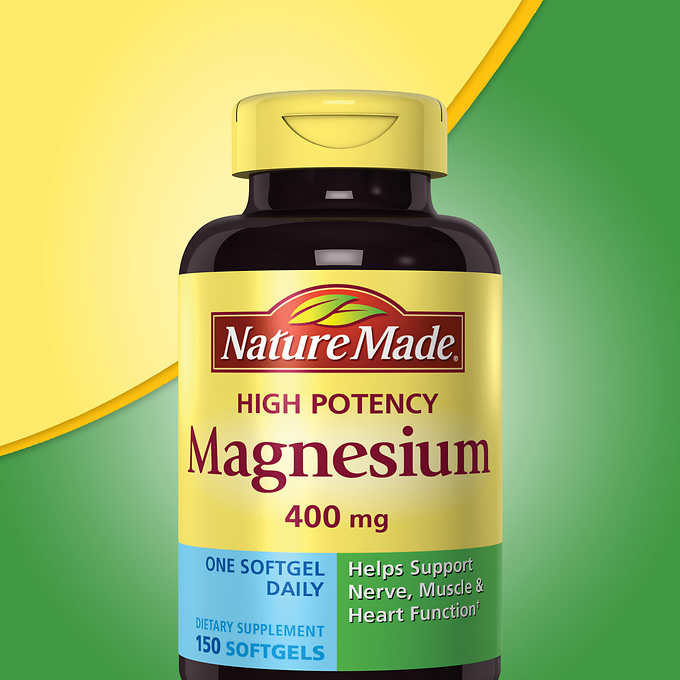 Nature Made Magnesium 400 mg., 150 Softgels 高效鎂液體軟膠囊 (150粒)