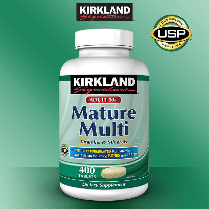 Kirkland Signature Adults 50+ Mature Multi, 400 Tablets 中老年復合維生素(50歲以上)(400粒)