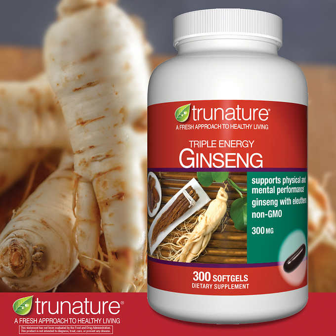 trunature Triple Energy Ginseng 300mg 三倍能量人參膠囊 (300粒)