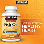 Kirkland Signature Fish Oil 1000mg 深海魚油膠囊 (400粒)