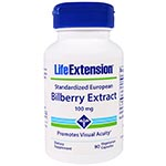 Life Extension, Bilberry Extract, 100mg 越橘含花青素改善視力 (90粒)