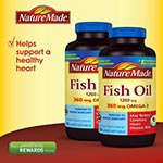 Nature Made Omega-3 Fish Oil 1200mg 魚油 (200粒, 2瓶)