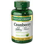 Nature's Bounty Cranberry 4200mg plus Vitamin C 小紅莓 (250粒)