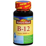 Nature Made Vitamin B-12 3000 維它命B12 (60軟膠囊)