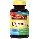 Nature Made Vitamin D3 1000 IU 維他命D (300 Softgels軟膠囊)