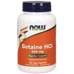 NOW Foods Betaine HCl 648mg (120粒)