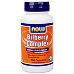 NOW Foods Bilberry Complex 80mg �s��l (100��)