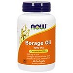 NOW Foods Borage Oil 1000mg (Highest GLA) 天然琉璃苣油 (120粒)
