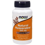 NOW Foods Natural Resveratrol 200mg 白藜蘆醇+紅酒提取物 (60粒)