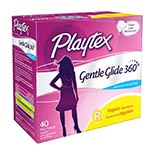 Playtex Gentle Glide Tampons, Unscented, Regular (40支)