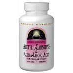 Acetyl L-Carnitine & Alpha-Lipoic Acid 500/150mg (30粒)