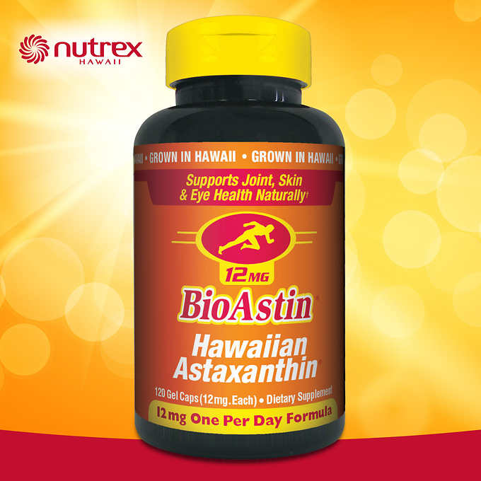 BioAstin Hawaiian Astaxanthin 12 mg., 120 Gel Caps 夏威夷蝦青素 (120顆軟膠囊)