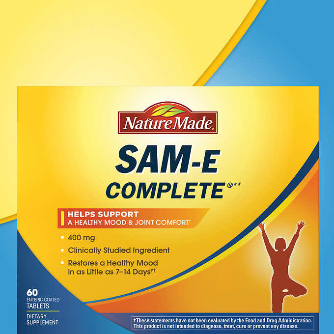 Nature Made SAM-E Complete 400 mg., 60 Tablets 纯 S-腺苷基蛋氨酸片 (60片)