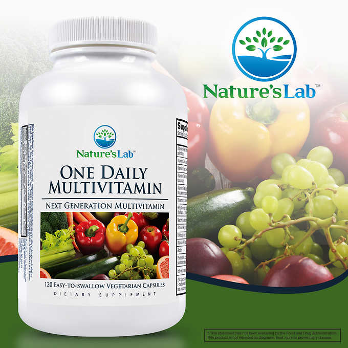Nature's Lab One Daily Multivitamin, 120 Vegetarian Capsules 日常維生素素食膠囊 (120粒)