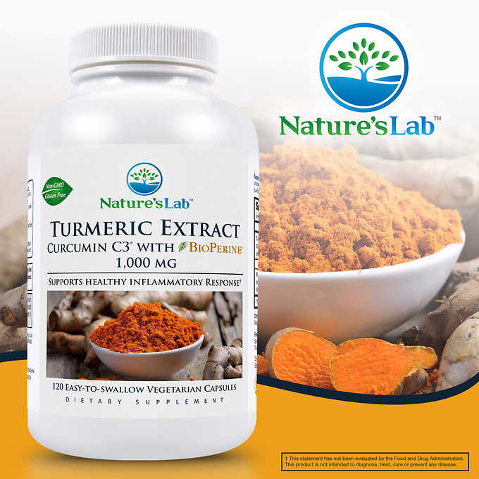 Nature's Lab Turmeric Curcumin C3, 1000mg 薑黃素 (120粒)