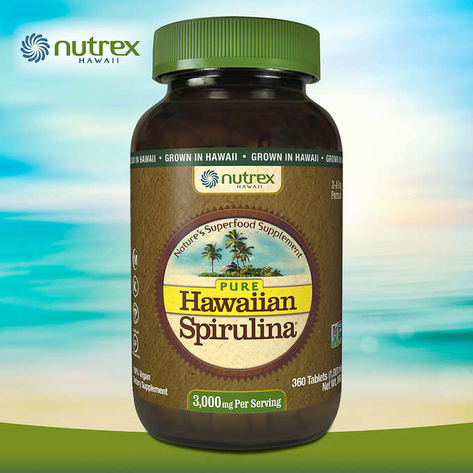Pure Hawaiian Spirulina 3000 mg., 360 Tablets 純夏威夷螺旋藻純片 (360粒)