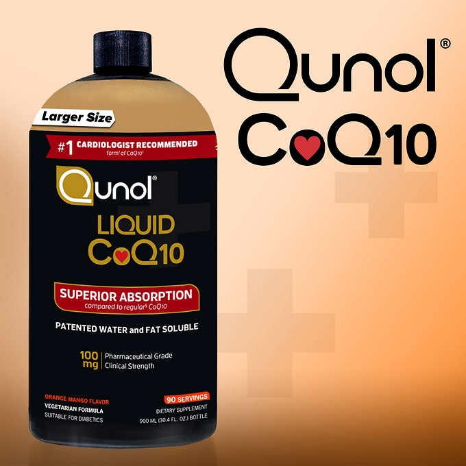 Qunol Liquid CoQ10 100 mg., 30 Ounces 純天然液體輔酶(30oz)