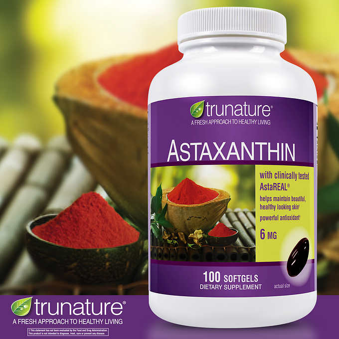 trunature Astaxanthin 6 mg., 100 Softgels 蝦青素軟膠囊 (100粒)