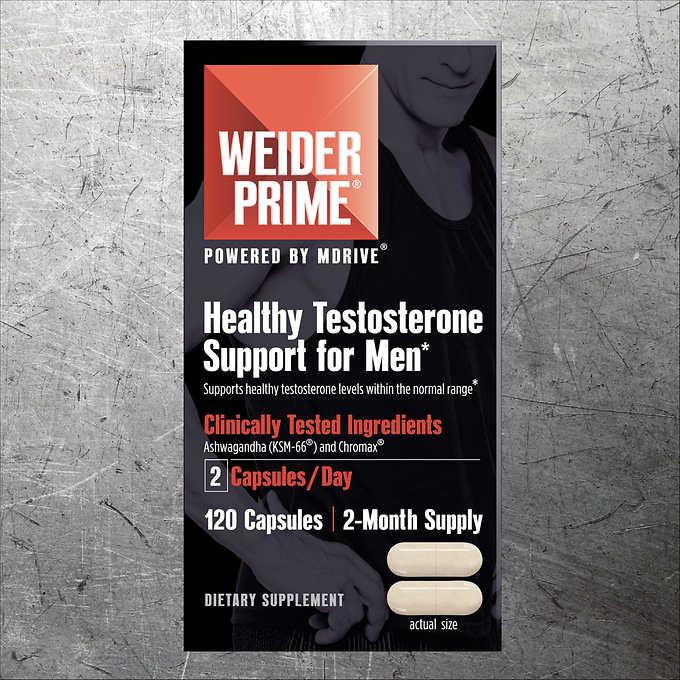 Weider Prime Testosterone Support, 120 Capsules 睾酮素片 (120粒)