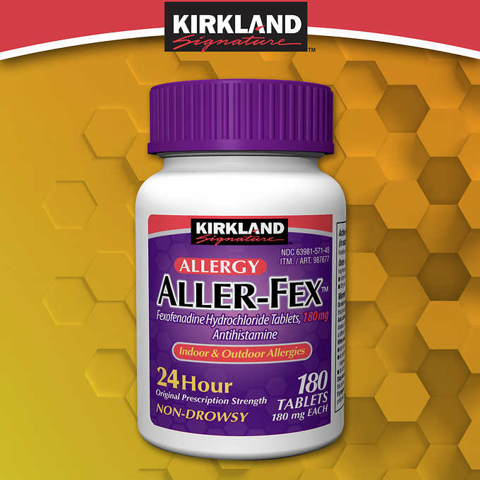 Kirkland Signature Aller-Fex 180 mg., 180 Tablets 柯可蘭抗過敏利嗪片