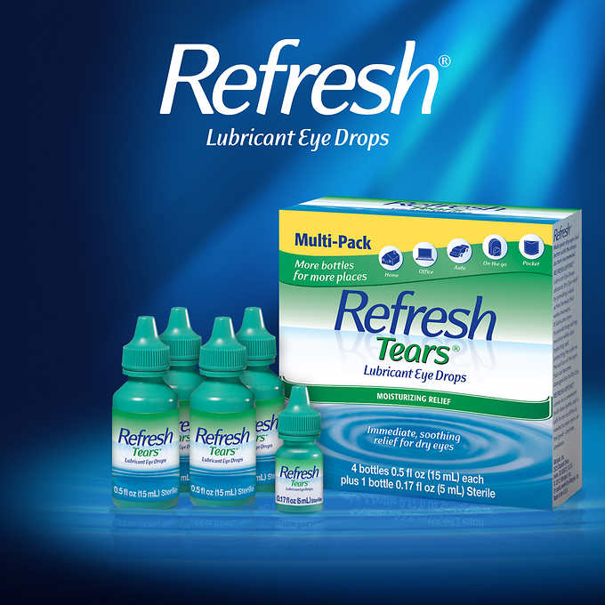 Refresh Tears Multi-Pack, 65 ml (0.5oz*4瓶) 人造眼淚眼藥水