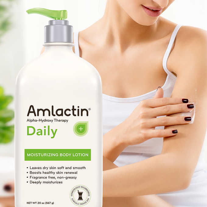 Amlactin Moisturizing Body Lotion, 20 Ounces 干性皮膚保养乳膏 (20oz)